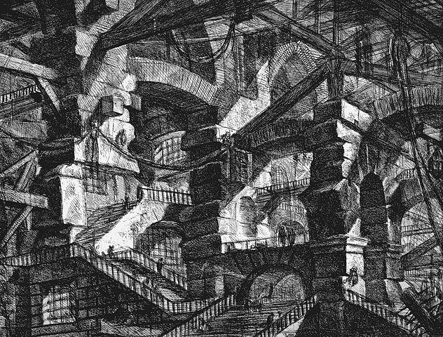 Piranesi, le Carceri d'Invenzione, Plate XIV