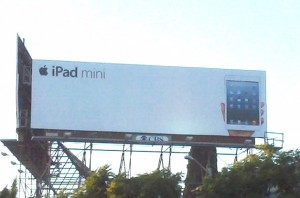 iPad mini billboard
