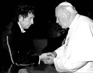 bob dylan and pope john paul