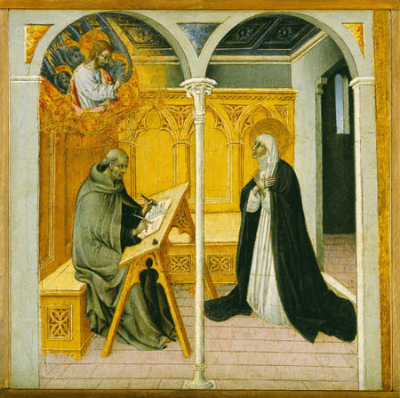 Giovanni di Paolo, St Catherine of Siena Dictating her Dialogues