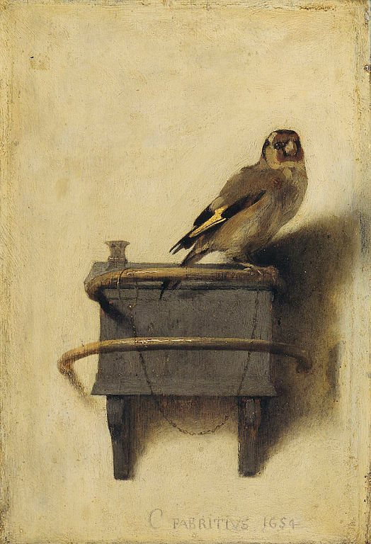 The Goldfinch. Carel Fabritius, 1654.