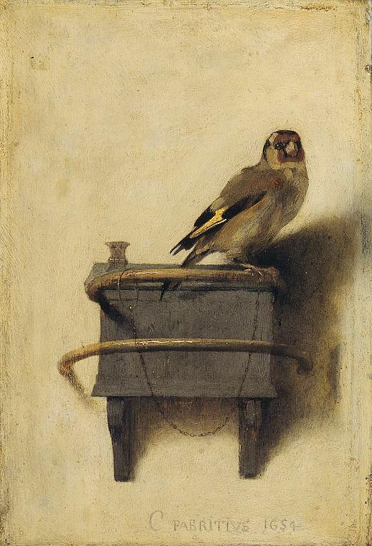 The Goldfinch. Carel Fabritius, 1654.