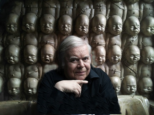 Enjoying A Beer In The Giger Bar