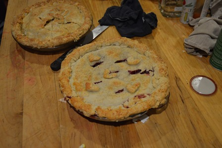 Don't forget the pie (One apple and one berry).