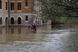St Joseph Abbey flood